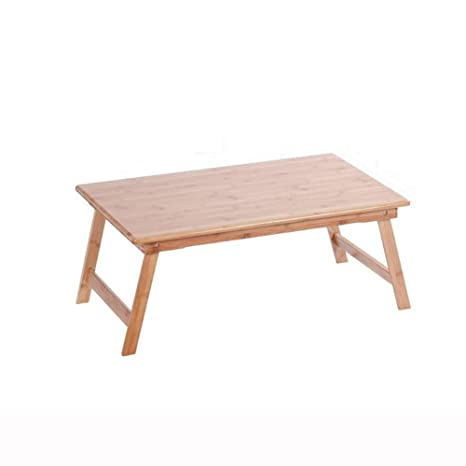 Amazon.com: QIDI Mesa plegable portátil de madera para cama ...