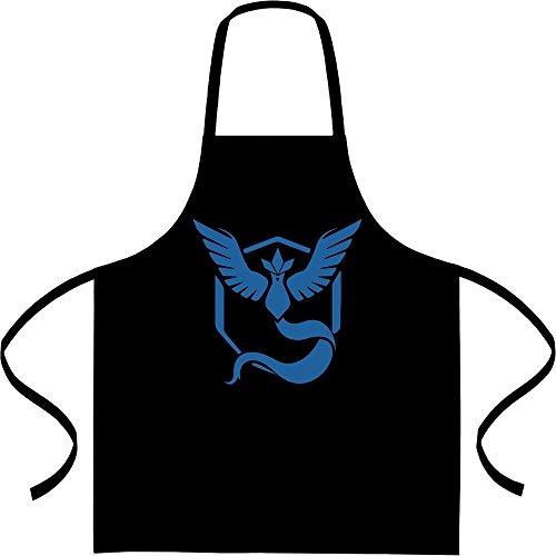 Go Team Blau Team Mystic Logo Kochschürze, Grillschürze, Latzschürze One Size Schwarz