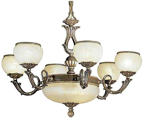 Classic Lighting 69506 VBZ Alexandria II, Cast Brass and Glass, Chandelier, 32