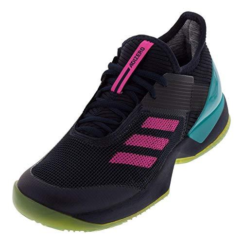 adidas Women's Adizero Ubersonic 3 Clay Tennis Shoe Legend Ink/Shock Pink/hi-res Aqua 10.5 M US