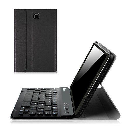 Click to buy Fintie Samsung Galaxy Tab E 8.0 Keyboard Case - Slim Light Weight Standing Smart Cover with Magnetically Detachable Wireless Bluetooth Keyboard for Tab E 8.0 Inch SM-T377 4G LTE Tablet, Black - From only $24.99