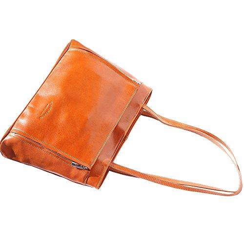 Doble Marron Leather Asa 215 Florence Market Cuero De Bolso Claro Hombro Con En w4P4qT8