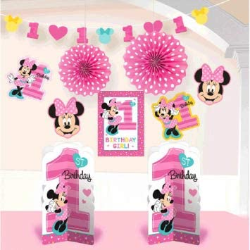 Amscan 1st Birthday Minnie Mouse Table Cover Party Supplies Minnie Fun to be One