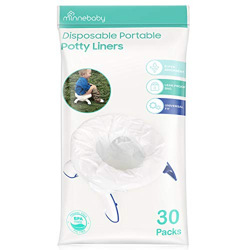 Potty Liners Disposable, Refill Potty Bags Universal Fit All Size Potty Seat/Chair, 30 ()