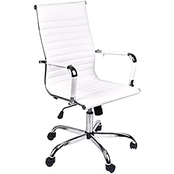 Charming Elecwish,Adjustable Office Executive Swivel Chair, High Back Padded Tall  Ribbed, Pu Leather