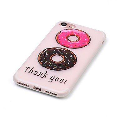 Fundas y estuches para teléfonos móviles, brillan en la oscuridad rosquillas modelo en relieve material de la caja del teléfono de TPU para el iPhone 7 7 más 6s 6 Plus SE 5s 5 ( Modelos Compatibles :  IPhone 7