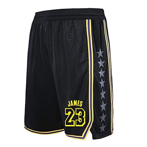 QIXUN Pantalones de Baloncesto Lakers 23# Pantalones Cortos ...