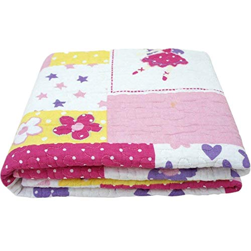 "Abreeze 100% Cotton Flower Castle Coverlet Quilt Bedspread Baby Blanket Throw Blanket for Kid's Bedroom 43"" X 51"" from Abreeze"