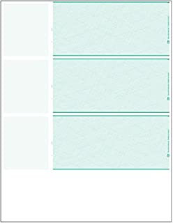Amazon.com : EGP Three to a Page Personal Sized Blank Check Stock ...