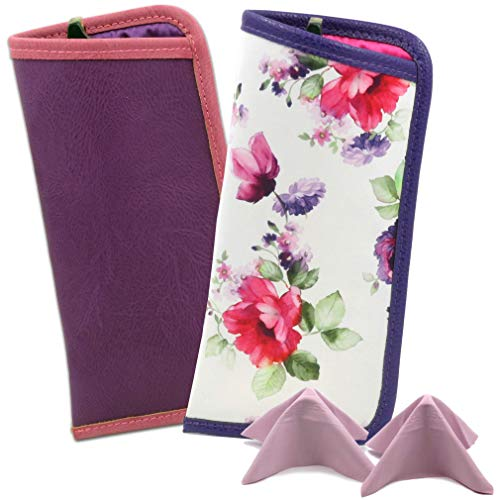 MyEyeglassCase Slim Reading Glasses Case Small Soft Readers Case Pouch and Cloth