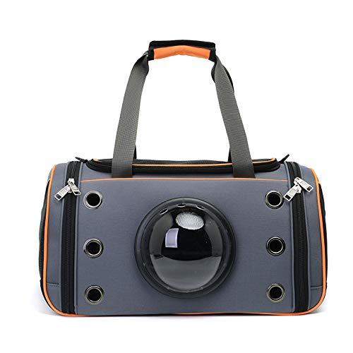 Creative Transparent Window Design Cover Breathable Dog Cat Pet Travel Bag Shoulder Bag Two Optional