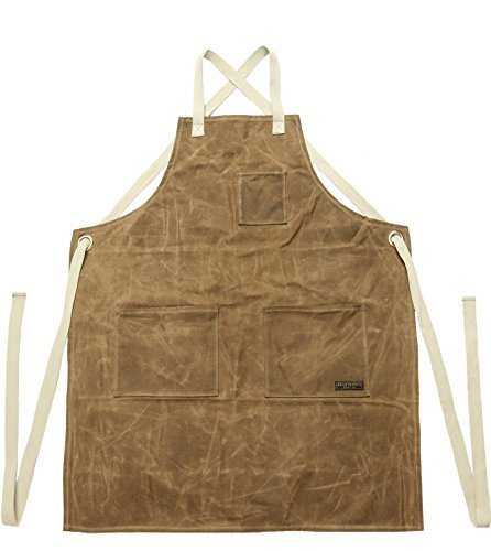 Readywares Waxed Canvas Utility Apron, Cross-back Straps (Tan) by Readywares (Image #7)