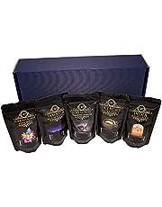 Edele en hoogwaardige geschenkset - Vijf exclusieve koffiezeldzaamheden Incl. Kopi Luwak (kattenkoffie van wilde dieren) - Hele boon - Topkoffie - Premiumkoffie - Zacht en vers gebrand