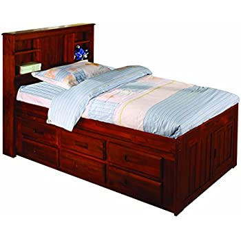 Discovery World Furniture Bookcase Captains Bed with 6 Drawer Storage Twin Merlot  sc 1 st  Amazon.com & Amazon.com: Discovery World Furniture Bookcase Captains Bed with 6 ...