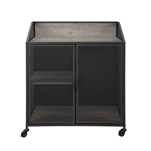 Pemberly Row 33'' Bar Cabinet in Gray Wash