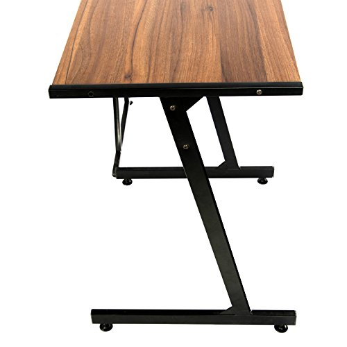 GreenForest Office Desk L-Shape Corner Computer PC Table Workstation 3-Piece for Home,Dark Walnut Photo #2