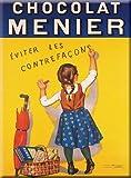 Cartexpo M15291 Cosmétique Carte Menier Contrefaçon Métal 15 x 20 cm