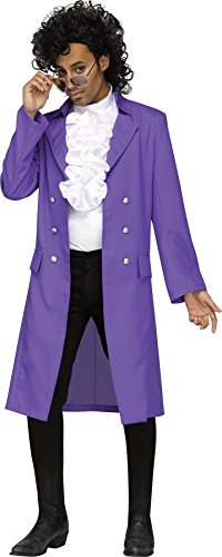 Purple Pain 80s Pop Star Adult (Pop Star Halloween Costumes For Adults)
