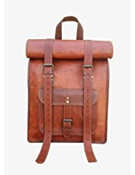 "Maison De Cuir 15"" Handmade Vintage Leather Backpack Laptop Bag Ipad Bag"