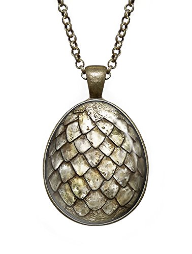 White Dragon Egg Necklace, Game of Thrones Pendant, Geek Jewelry, Girl Gift, Birthday Gifts, khaleesi, Daenerys (Dragon Girl Game Of Thrones)