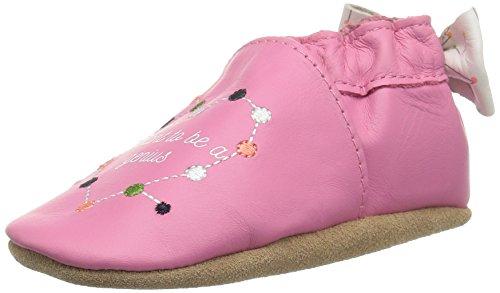 Robeez Girls Crib Shoe, I I Want to Be A Genius Azalea, 12-18 Months M US Infant