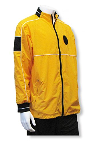 Referee Jacket - Soccer Referee Water-Resistant Jacket - size Adult L - color Gold