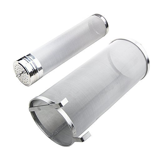2PCS Hop Spider 300 Micron Mesh Stainless Steel Hop Filter Strainer for Home Beer Brewing Kettle Including 3x12in Dry Hop Filter and 6x14in Spider by TIZZE