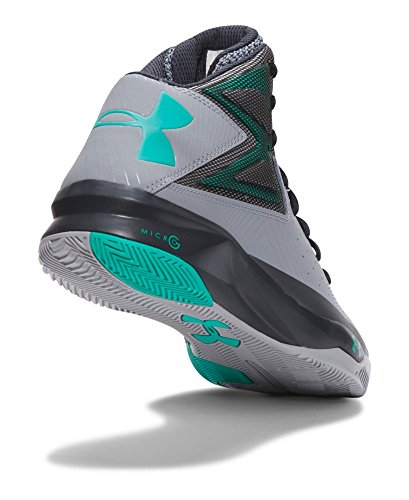 Under Armour Herren UA Rocket Basketballschuhe Stahl / Anthrazit