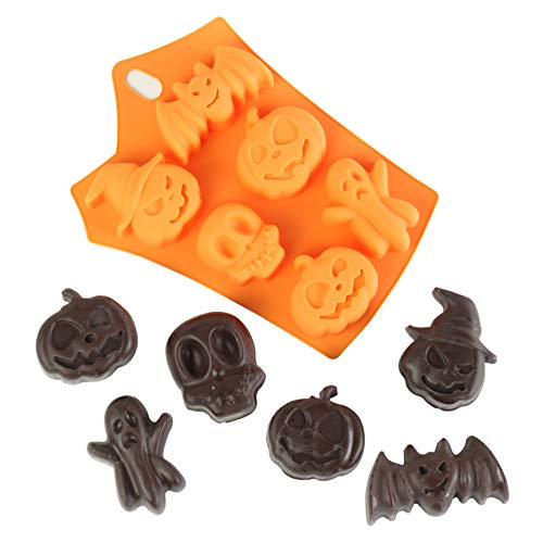 Nicole Halloween Soap Mold Non-Stick Silicone Halloween Chocolate Wafer Mold Jelly Pudding Cake Baking Tools Biscuit Cookie Molds