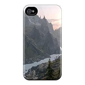 Hot Style DBV18580YmGw Protective Cases Covers For Iphone4/4s(skyrim Sunrise)