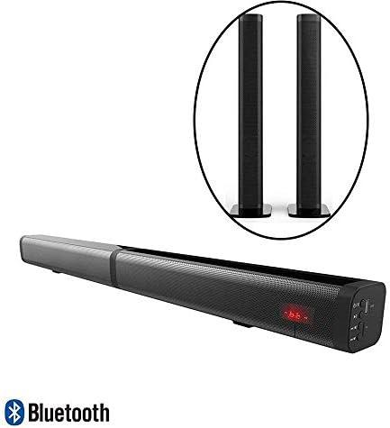 2 in 1 Detachable Soundbar, 40W Bluetooth Strip TV Speaker,