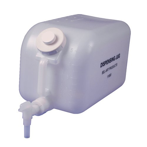Bel-Art H11850-0000 Polyethylene Dispensing Jug; 20 Liters (5 Gallons), Polyethylene Spigot