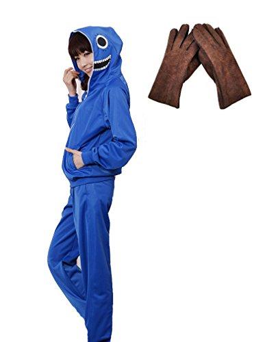 F&C Vocaloid Gakupo Russian Matryoshka Jacket Hoodie Coat Cosplay Costune 1 (Medium, Blue) (Sexy Costunes)