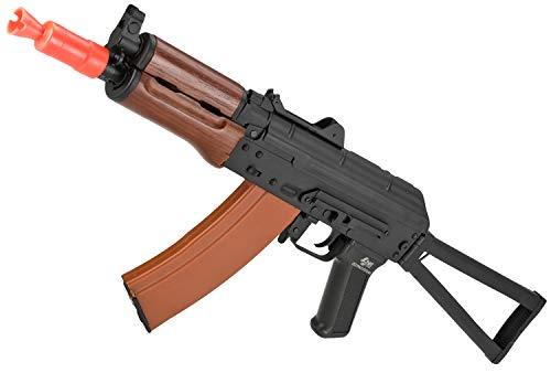 Evike JG Electric Blowback Airsoft AKS74U Folding Stock with Steel Receiver and Real Wood - Aks Airsoft 74u