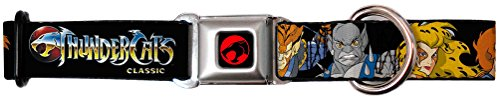 Thundercats Animated TV Series Character Faces Close-Up Seatbelt Pet Dog Collar (80s Characters)