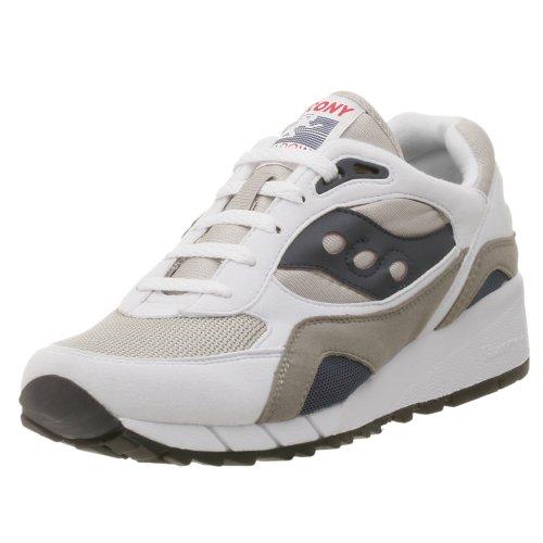 Saucony Originals Men's Shadow 6000 Cushion Sneaker,White/Grey/Navy,10.5 M