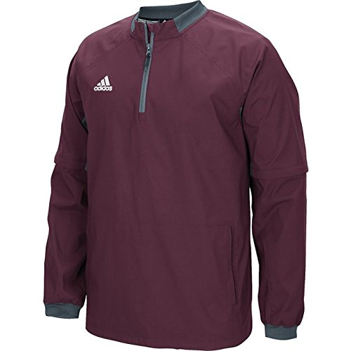 adidas Mens Fielder's Choice Convertible Jacket, Maroon/Onix Grey, Xx-Large