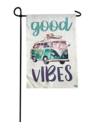 Garden Flag - Good Vibes Camping Double Sided Decorative Fla