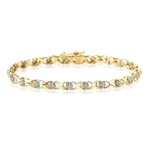 - KATARINA Diamond Link Bracelet in 14K Yellow Gold (1/4 cttw)