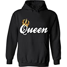 King & Queen - Matching Couple Hoodies - His and Her Sweatshirts - 326