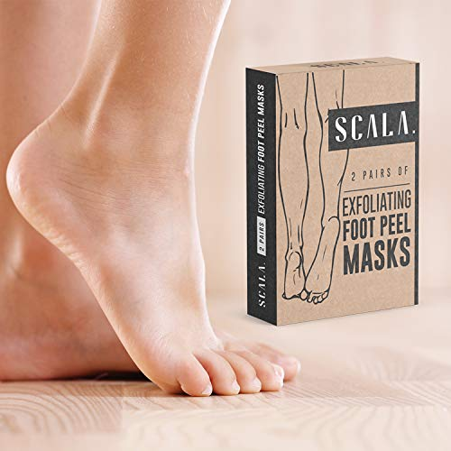 Foot Peel Exfoliating Mask (2 Pairs) for Soft Feet - Exfoliant Gel Peels Away Rough Dry Skin and Callus