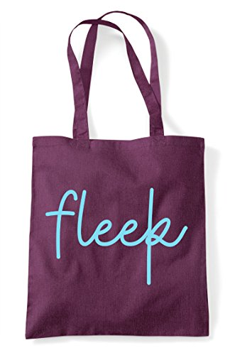 Plum Tote Hashtag Shopper Statement Quote Fleek Bag w4C8UC