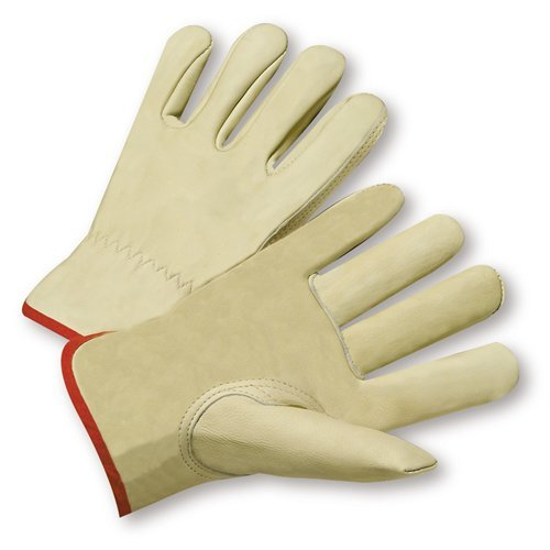West Chester 995K Standard Grain Cowhide Leather Driver Work Gloves: Keystone Thumb, X-Large, 12 Pairs