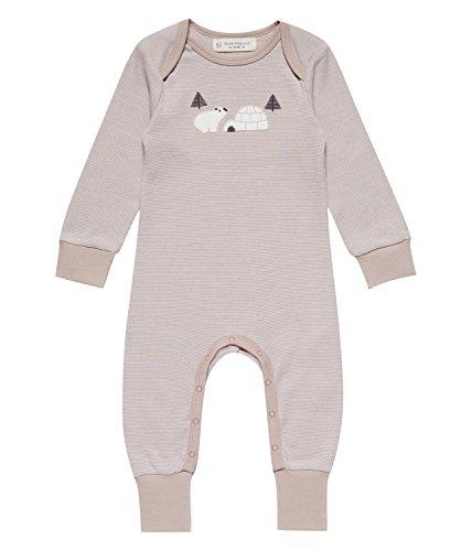 Sense Organics Unisex Baby Spieler Wayan Babyspieler, Mehrfarbig (Grey Stripes + Applique 990003), 68 (Herstellergröße: 3M)