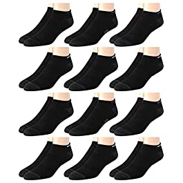 New Balance Men's Breathable Solid Lightweight Low Cut Socks (12 Pack)