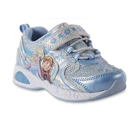 Disney Toddler Girls' Frozen Light-up Blue Sneakers (11 US Girls Little Kid) -