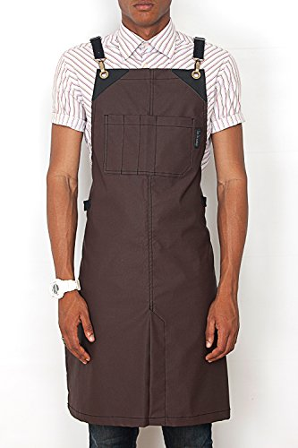 under-ny-sky-cross-back-barber-apron-coated-chocolate-brown-black-leather