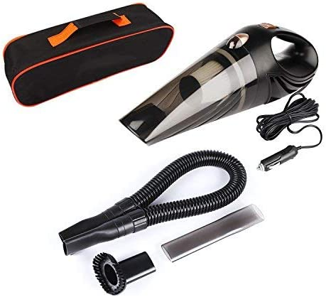 Aspirador de coche portátil DC 12 V Aspirador de mano para coche para uso en seco