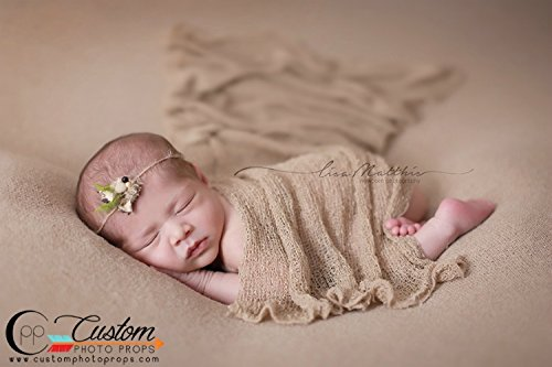 Amazon com newborn photo props 23 colors to choose frompopcorn ivory nubble newborn stretch baby wrap photo prop newborn photography prop