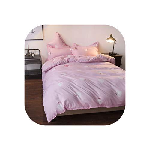 Comforter Sets King Queen Twin Bedding Sets Girls Kid Teen Linen Bunny Rabbit Duvet Quilt Cover Pillowcase Flat Bed Sheet,23,Twin 4Pcs